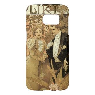 Vintage Art Nouveau Love Romance, Flirt by Mucha