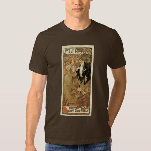 Vintage Art Nouveau Love Romance, Flirt by Mucha T Shirt