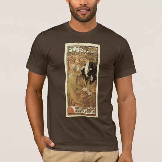 Vintage Art Nouveau Love Romance, Flirt by Mucha T-Shirt