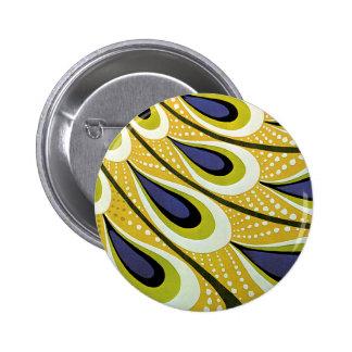 Vintage Art Nouveau, Macmillan's Peacock Feather 6 Cm Round Badge