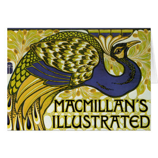 Vintage Art Nouveau, Macmillan's Peacock Feather Greeting Card