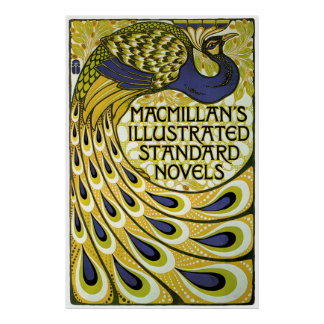 Vintage Art Nouveau, Macmillan's Peacock Feather Poster