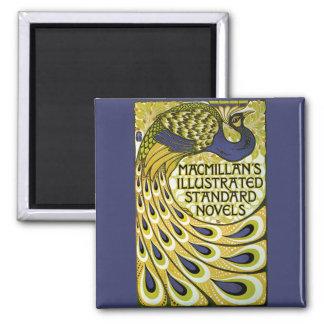 Vintage Art Nouveau, Macmillan's Peacock Feather Square Magnet