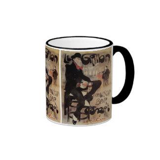 Vintage Art Nouveau Man Drinking Beer American Bar Coffee Mug