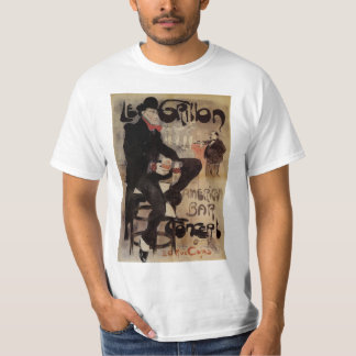 Vintage Art Nouveau Man Drinking Beer American Bar T-Shirt