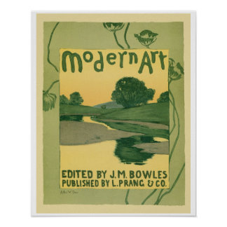 Vintage art Nouveau Modern Art Book cover Poster