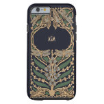 Vintage Art Nouveau Monogram Tough iPhone 6 Case