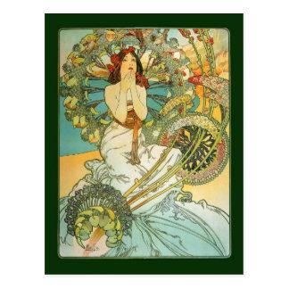 Vintage Art Nouveau Monte Carlo Postcard