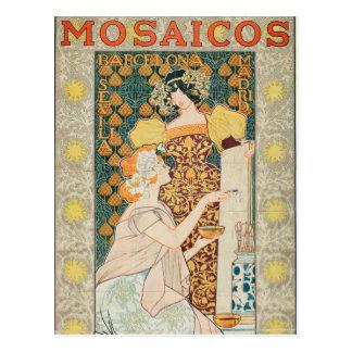 Vintage Art Nouveau Mosaicos Escofet-Tejera y CA Postcard