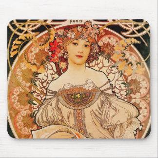 Vintage Art Nouveau Mucha Mouse Pad