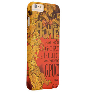 Vintage Art Nouveau Music, La Boheme Opera, 1896 Barely There iPhone 6 Plus Case