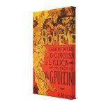 Vintage Art Nouveau Music, La Boheme Opera, 1896 Stretched Canvas Prints