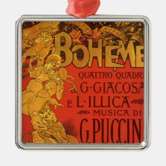 Vintage Art Nouveau Music, La Boheme Opera, 1896 Christmas Ornament