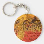 Vintage Art Nouveau Music, La Boheme Opera, 1896 Key Chain