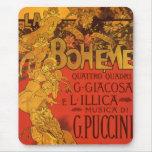 Vintage Art Nouveau Music, La Boheme Opera, 1896 Mouse Pads