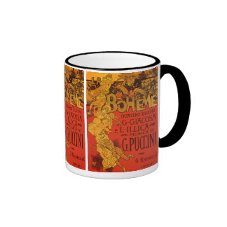 Vintage Art Nouveau Music; La Boheme Opera, 1896 Coffee Mugs