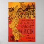 Vintage Art Nouveau Music, La Boheme Opera, 1896 Print