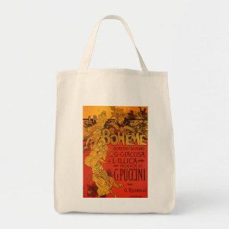 Vintage Art Nouveau Music, La Boheme Opera, 1896 Tote Bag