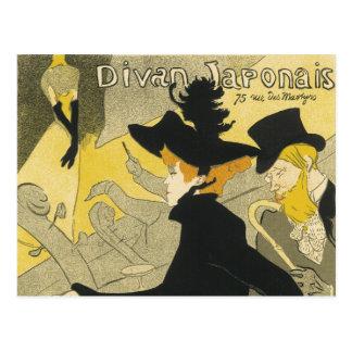 Vintage Art Nouveau, Nightclub Cafe Divan Japonais Postcard