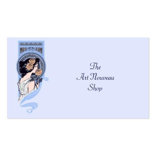 Vintage art nouveau period dress business card