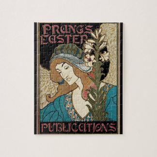 Vintage Art Nouveau, Prangs Easter Publications Jigsaw Puzzle