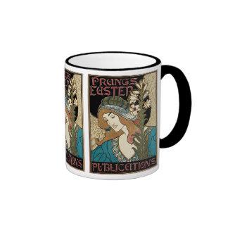 Vintage Art Nouveau, Prangs Easter Publications Ringer Mug