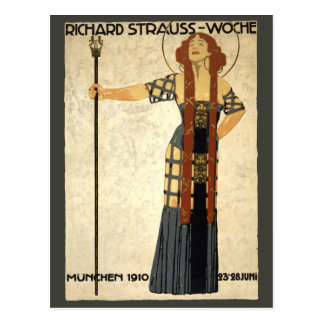 Vintage Art Nouveau Richard Strauss-Woche. Munich Postcard
