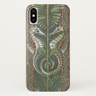 Vintage Art Nouveau, Seahorses and Seaweed iPhone X Case