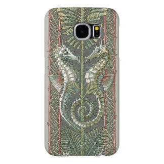 Vintage Art Nouveau, Seahorses Marine Animals Samsung Galaxy S6 Cases