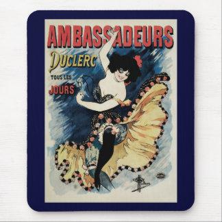 Vintage Art Nouveau, Spanish Flamenco Dancer Mousepads