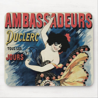 Vintage Art Nouveau, Spanish Flamenco Dancer Mouse Pad