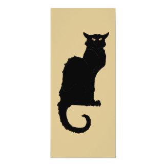 Vintage Art Nouveau, Spooky Halloween Black Cat Invites