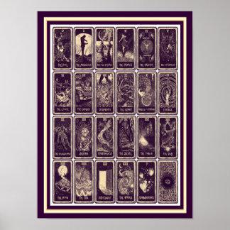 Vintage Art  Nouveau Tarot Card Poster 12 x 16