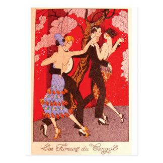 Vintage Art Nouveau ~ The Fury of Tango Post Cards