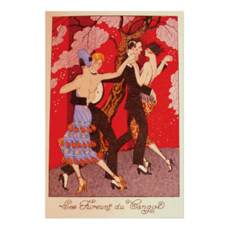 Vintage Art Nouveau ~ The Fury of Tango Print