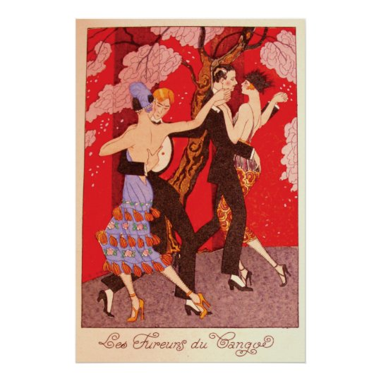 Vintage Art Nouveau ~ The Fury of Tango
