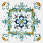 Vintage Art Nouveau Tile Square Sticker