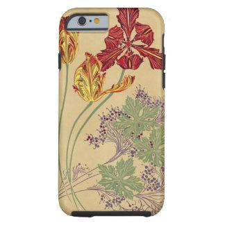 Vintage Art Nouveau Tulips Tough iPhone 6 Case