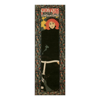 """Vintage art nouveau vertical 12"""" x 36"""" poster"""