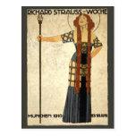 Vintage Art Nouveau, Victorian Woman Postcard