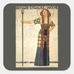 Vintage Art Nouveau, Victorian Woman Square Sticker