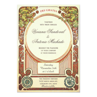 Vintage Art Nouveau Wedding Invitations I