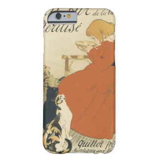 Vintage Art Nouveau, Young Girl Giving Cats Milk Barely There iPhone 6 Case
