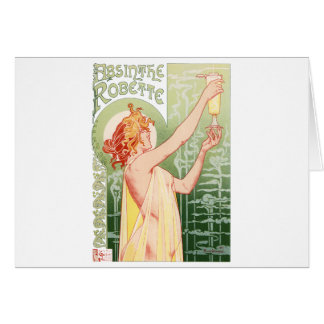Vintage Art Nouveua-Style Belle Epoque poster for Card