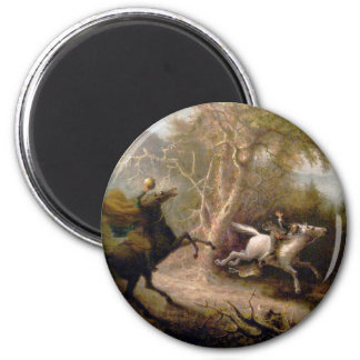 Vintage Art of Sleepy Hollow 6 Cm Round Magnet