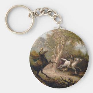 Vintage Art of Sleepy Hollow Basic Round Button Key Ring