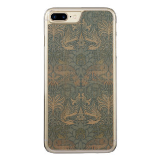 Vintage Art Peacock and Dragon Morris GalleryHD Carved iPhone 8 Plus/7 Plus Case