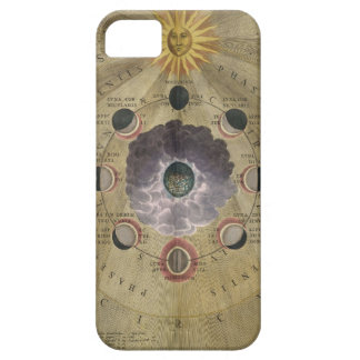 Vintage art phases of Moon chart - selenographic iPhone 5 Covers