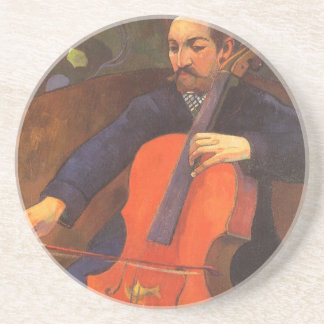 Vintage Art, Player Schneklud Portrait, Gauguin Coaster