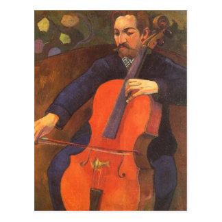 Vintage Art, Player Schneklud Portrait, Gauguin Postcard